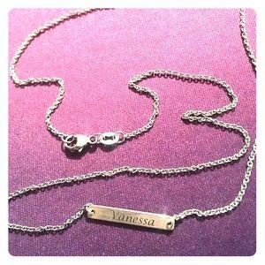 James Avery petite personalized Vanessa necklace